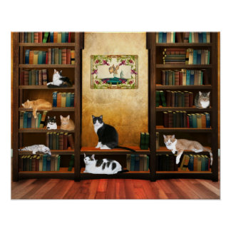Literary cats poster