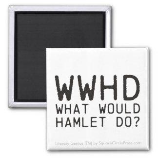 Literary Genius: Hamlet Question Square Magnet
