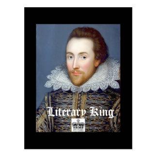 Literary King Vintage William Shakespeare Postcard
