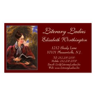 Literary Ladies Bookshop, Book Fair, Book Club Business Card Template