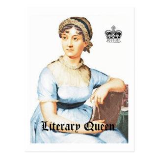 Literary Queen Vintage Style Jane Austen Postcard