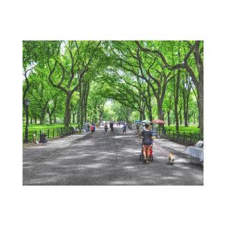 Literary Walk- Central Park, New York Canvas Prints