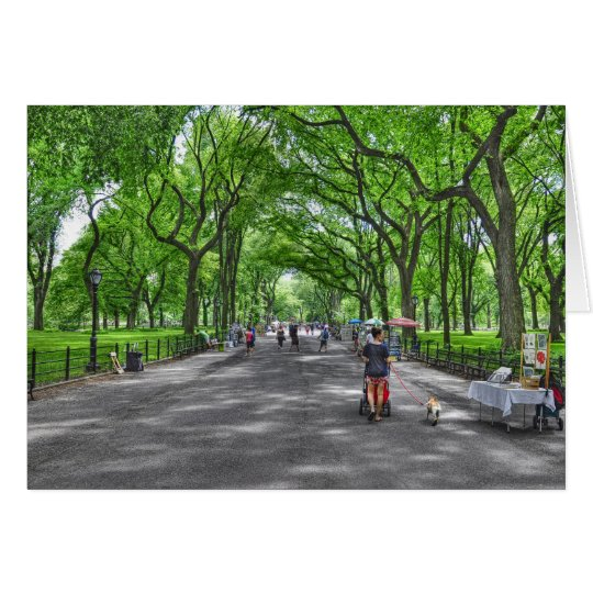 Literary Walk- Central Park, New York Card