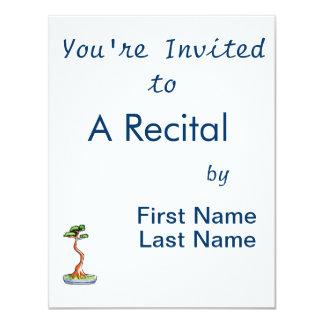 literati bonsai tree graphic 11 cm x 14 cm invitation card