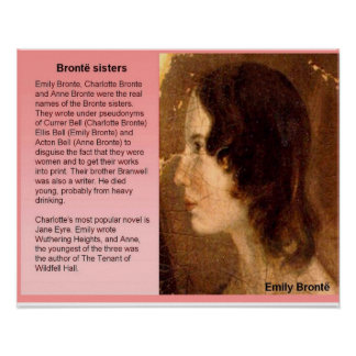Literature, 19th century, Bronte sisters Posters