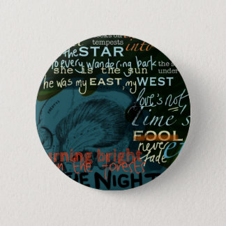 Literature Quotes Love Poetry Shakespeare Dark 6 Cm Round Badge