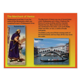 Literature, Shakespeare, Merchant of Venice Poster