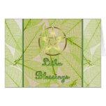 Litha Summer Solstice Pagan Pentagram Greeting Card