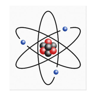 Lithium Atom Chemical Element Li Atomic Number 3 Gallery Wrapped Canvas