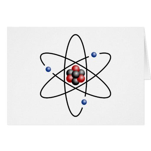 Lithium Atom Chemical Element Li Atomic Number 3 Greeting Cards