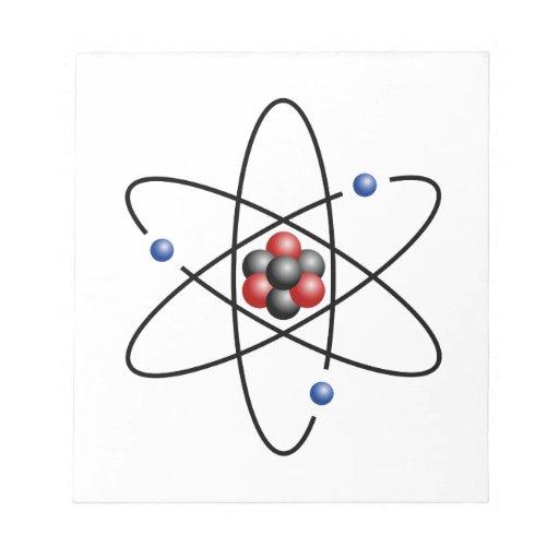 Lithium Atom Chemical Element Li Atomic Number 3 Memo Note Pad