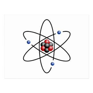 Lithium Atom Chemical Element Li Atomic Number 3 Postcard