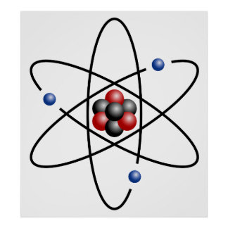 Lithium Atom Chemical Element Li Atomic Number 3 Poster