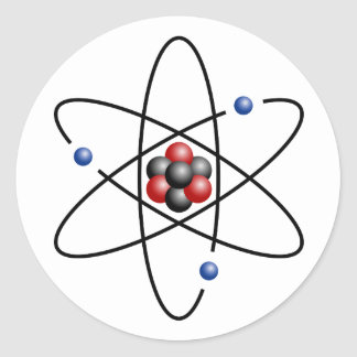 Lithium Atom Chemical Element Li Atomic Number 3 Round Sticker