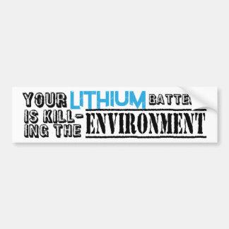 Lithium Batteries Environment Bumper Sticker
