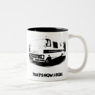Litho Travco, That's How I Roll Two-Tone Coffee Mug