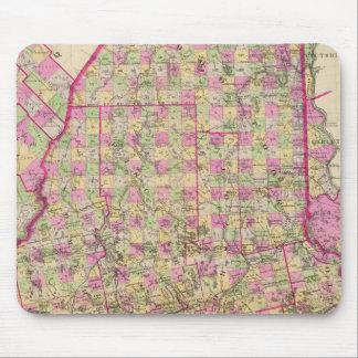Lithographed Map of Maine Mouse Mat