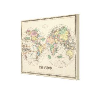 World map wrapped canvas prints zazzle lithographed world map canvas print gumiabroncs Gallery