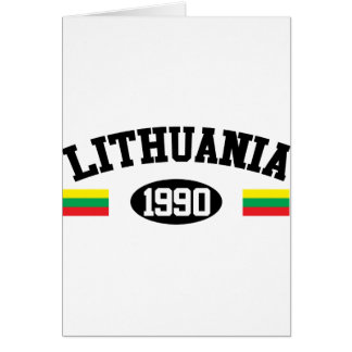 Lithuania 1990 greeting card
