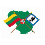 Lithuania and Siauliai County Flags, Arms, Map