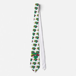 Lithuania and Vilnius County Flags, Arms, Map Tie