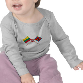 Lithuania and Vilnius County Flags with Arms Tees