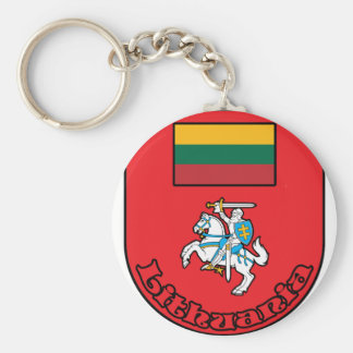 Lithuania Basic Round Button Key Ring