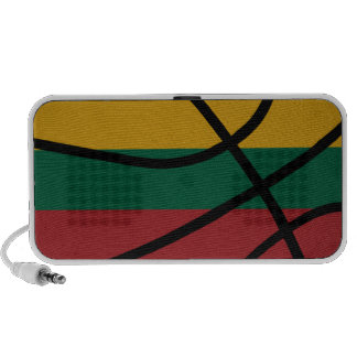 Lithuania Basketball Doodle Speaker