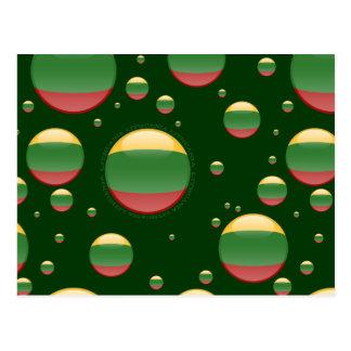 Lithuania Bubble Flag Postcard