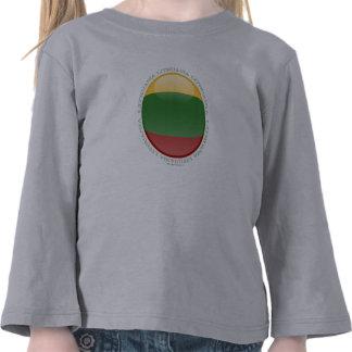 Lithuania Bubble Flag Tee Shirts