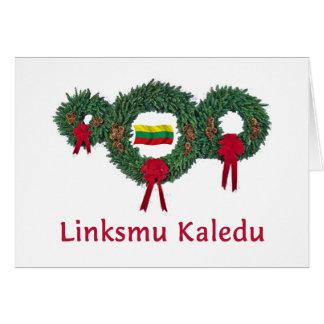 Lithuania Christmas 2 Greeting Card