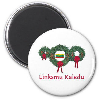 Lithuania Christmas 2 Magnet