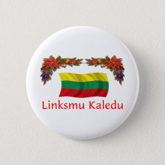 Lithuania Christmas 6 Cm Round Badge