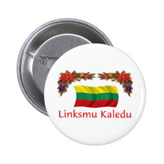 Lithuania Christmas 6 Cm Round Badge