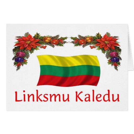 Lithuania Christmas Greeting Cards