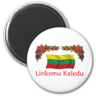 Lithuania Christmas Magnet