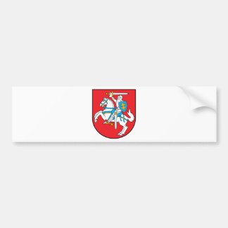Lithuania coat of arms bumper sticker