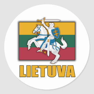 Lithuania Coat of Arms Classic Round Sticker