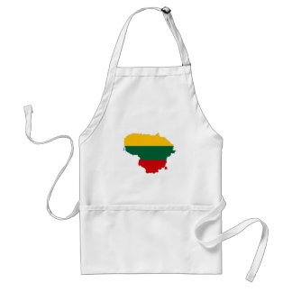 lithuania country flag map shape symbol standard apron
