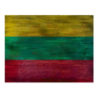 Lithuania distressed Lithuanian flag Postcard