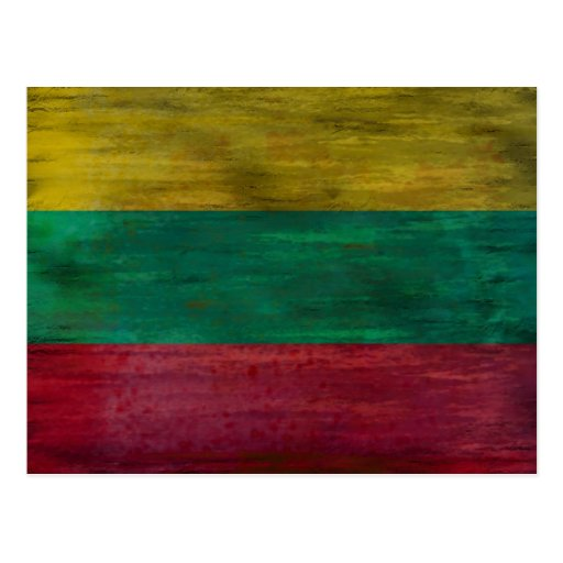Lithuania distressed Lithuanian flag Post Cards