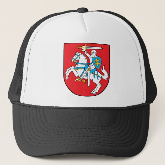 lithuania emblem trucker hat