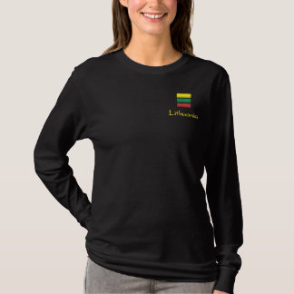 Lithuania Embroidered Long Sleeve T-Shirt
