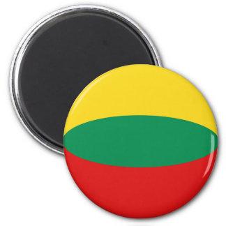 Lithuania Fisheye Flag Magnet