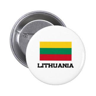 Lithuania Flag 6 Cm Round Badge