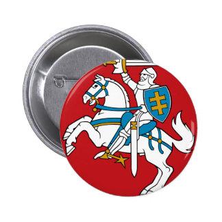 Lithuania Flag Pinback Button