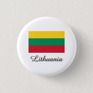 Lithuania Flag Design 3 Cm Round Badge