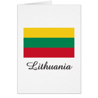 Lithuania Flag Design Greeting Card