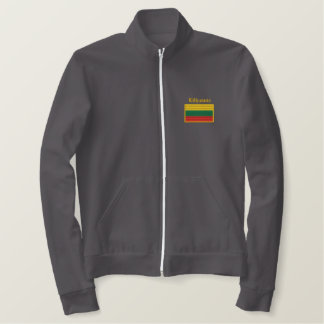 Lithuania Flag Embroidered Jacket
