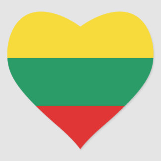 Lithuania Flag Heart Sticker